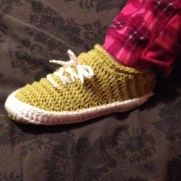 Crocheted Sneaker Slippers