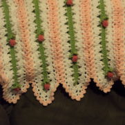 ROSE BUD BABY BLANKET
