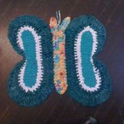butterfly rag rug