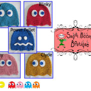 Pac Man's Arch Enemies Crochet Hats