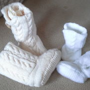 double knit cable ugg style boots