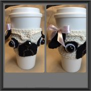 Pug Coffee Cup Cozy