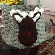 Moose face on tote