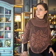 Elegant Crochet Poncho Pattern