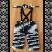 Suspender Pants & Bow Tie