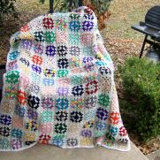 Scrap colors granny square afghan