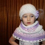 Crochet snood and hat