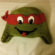 Crocheted inspired Ninja Turtle Hat