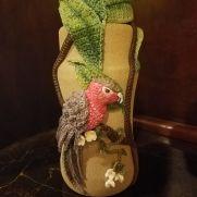 Crochet Bird Vase