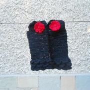 Crochet Black Fingerless, Black Crochet Gloves, Woman Fashion Accessories, Gift Gloves