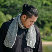 the wilton grey men scarf