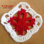 """""""O Canada"""" Granny Square"""