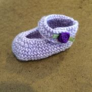 My Mary Jane baby booties