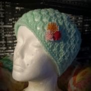 Mint green ladies granny stitch hat