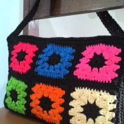 Granny square casual bag