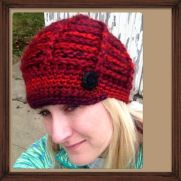 Cranberry Bliss Hat with Visor