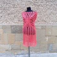 Coral Crochet Women Dress