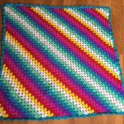 Corner to corner granny square blanket