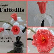 Crochet Cotinga Daffodils (Pink Species)