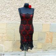 Crochet Black Dress, Black Lace Dress, Crochet Dress, Summer Dress , Crochet Resort Dress