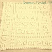 Precious One Piece Puff Stitch Baby Blanket