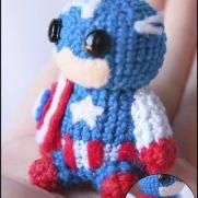 Captain America Amigurumi - Marvel - La Calabaza de Jack