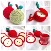 Sliced Apple Coaster Set