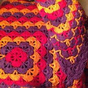 Latest finished afghan. Love how this one turned out.
