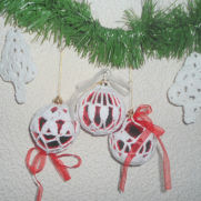 Crocheted Christmas decorations, Сhristmas Balls tree, Balls tree ornaments, New Year Decoration