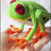 Crochet frog - La Calabaza de Jack
