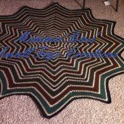 Forest floor round ripple blanket