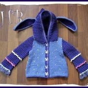 Spring Bunny Hooded Crochet/Knit Jacket