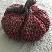 Crocheted OSU pumpkin