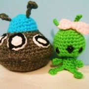 Adorable Alien and UFO