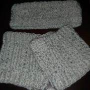 ear warmers and boot cuffs