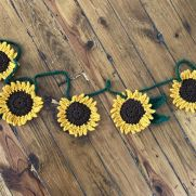 Handmade Sunflower Decorative Garland