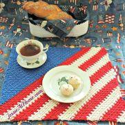 Crochet Patriotic Placemat