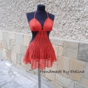 Crochet Beach Cover Lady, Crochet Resort Cover up, Summer Crochet Bikini Top, Crochet Swimwears