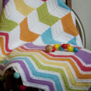Chevron mix up toddler blanket