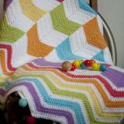 Chevron mix up toddler blanket