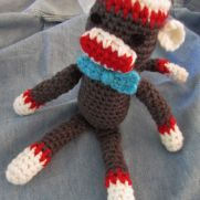 Vintage Style Sock Monkey with Bow Tie