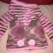 pink camo little girl sweater