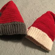 Crocheted Santa Hats