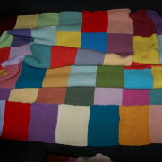 Knitted Patchwork Blanked
