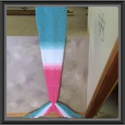 Mermaid Tail Blanket in Bubble Gum Pink and Tiffany Blue