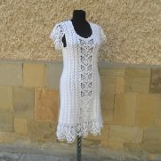 Crochet Wedding Dress, White Crochet Dress, Women Crochet, Lacy White