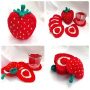Strawberry Coaster Set