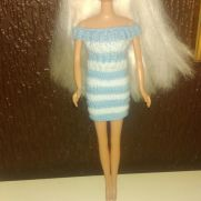 Blue and White Barbie Dress