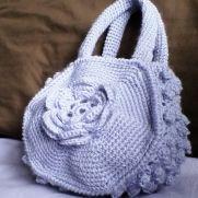 Lilac Flower Bag