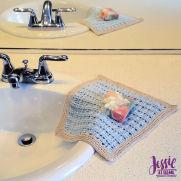 Broken Rib Crochet Washcloth